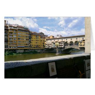 Ponte Vecchio Florence Italy Card