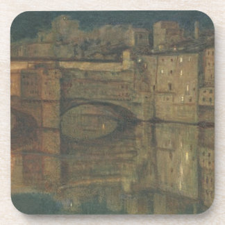 Ponte Vecchio, Florence (oil on canvas) Beverage Coaster