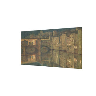 Ponte Vecchio, Florence (oil on canvas) Canvas Print