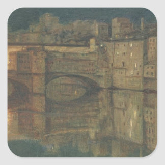 Ponte Vecchio, Florence (oil on canvas) Square Sticker