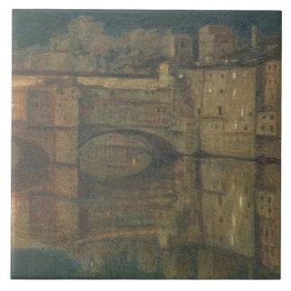 Ponte Vecchio, Florence (oil on canvas) Tile