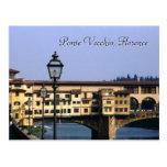 Ponte Vecchio, Florence   Postcard