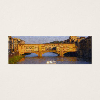 Ponte Vecchio Italian Florence Bridge Mini Business Card