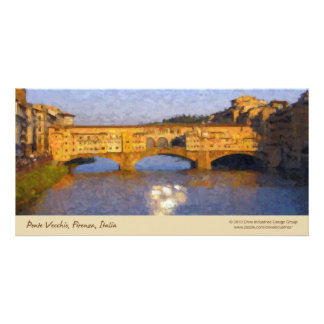 Ponte Vecchio Italian Florence Bridge Photo Card Template