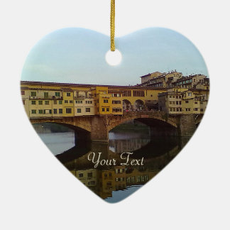 Ponte Vecchio Old Bridge Florence Italy Gift Christmas Ornament