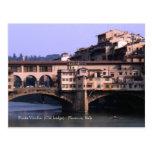 Ponte Vecchio (Old bridge)   Postcard