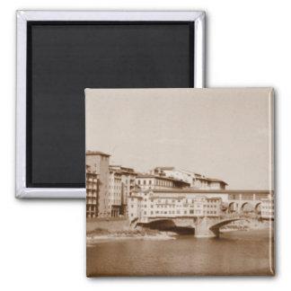 Ponte Vecchio Square Magnet