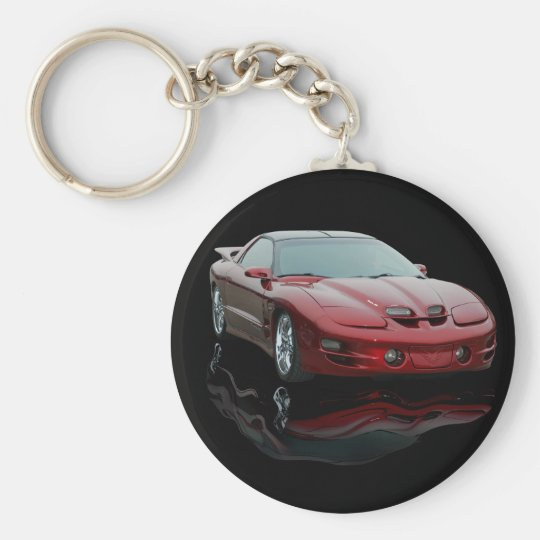 Pontiac Basic Round Button Key Ring