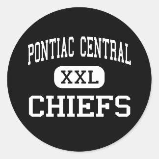 Pontiac Central - Chiefs - High - Pontiac Michigan Stickers