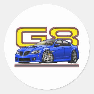 Pontiac_G8_blue Round Stickers