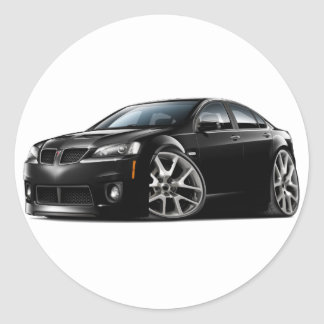Pontiac G8 GXP Black Car Round Sticker
