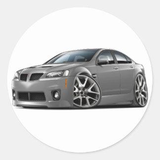 Pontiac G8 GXP Grey Car Round Sticker