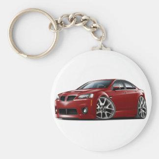 Pontiac G8 GXP Maroon Car Basic Round Button Key Ring