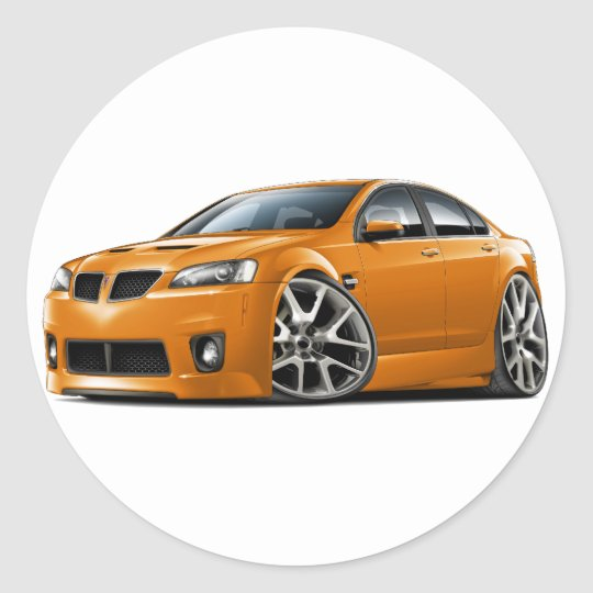 Pontiac G8 GXP Orange Car Classic Round Sticker