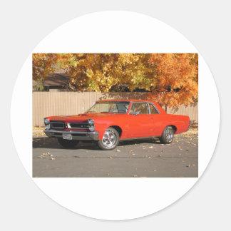Pontiac GTO Round Sticker