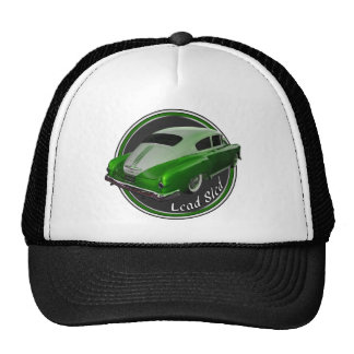 pontiac lead sled green metal flake lowrider cap