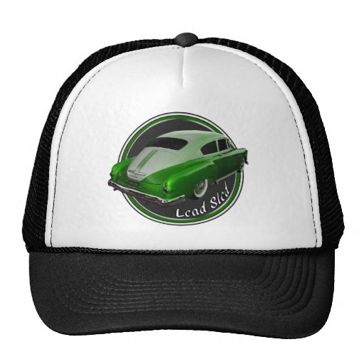 pontiac lead sled green metal flake lowrider trucker hats