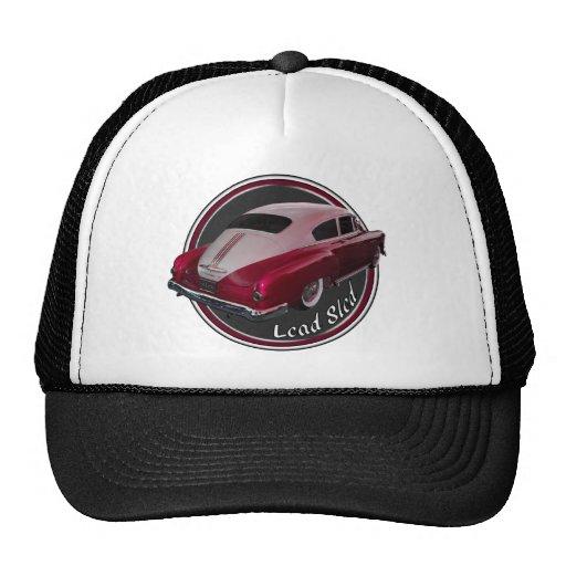 pontiac lead sled red low rider trucker hat