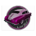 Pontiac Lowrider Lead Sled Pink Postcard