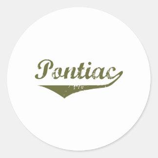 Pontiac  Revolution t shirts Round Stickers