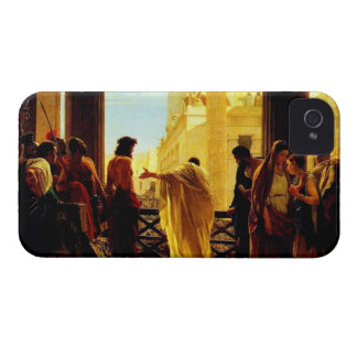 Pontius Pilate presenting a scourged Jesus Case-Mate iPhone 4 Cases