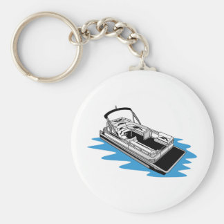 Pontoon Basic Round Button Key Ring