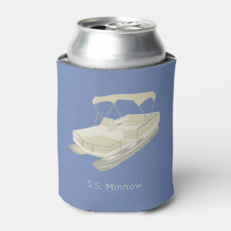 Pontoon Boat Personalised Can Cooler
