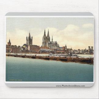 Pontoon bridge from Deutz, Cologne, the Rhine, Ger Mouse Pads