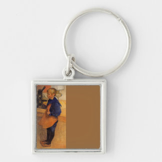 Pontus by the Etching Machine Silver-Colored Square Key Ring