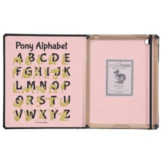 Pony Alphabet Chart, Pink Case For iPad