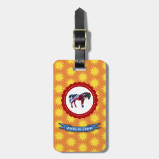 Pony and Sun Luggage Tag