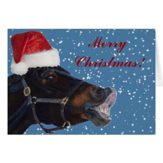 Pony Christmas Greeting Card