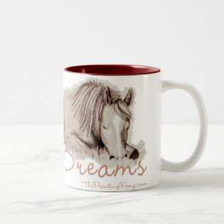 Pony Dreams Two-Tone Coffee Mug