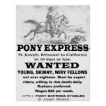 Pony Express Advertisement