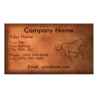 Pony Express Business Cards