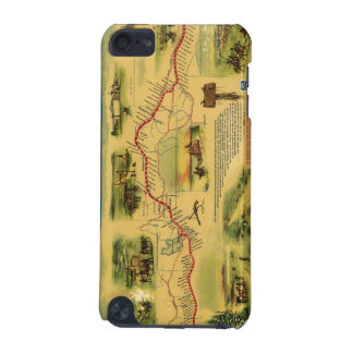 Pony Express Map by William Henry Jackson 1861 iPod Touch (5th Generation) Cover