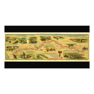 Pony Express Map by William Henry Jackson 1861 Photo Card Template
