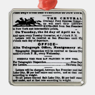 Pony Express, Nine Days Christmas Ornament