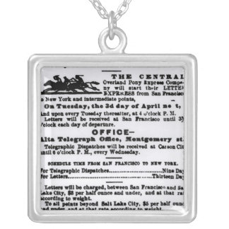 Pony Express, Nine Days Silver Plated Necklace
