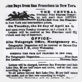 Pony Express, Nine Days Stickers