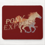 Pony Express Vintage Mouse Pad