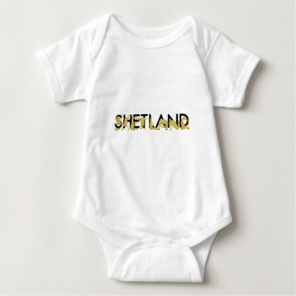Pony flexing into the letters SHETLAND Baby Bodysuit