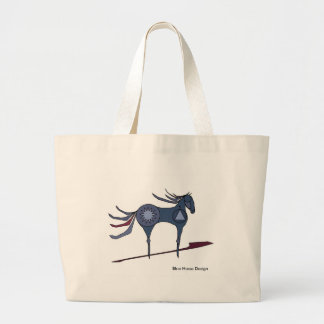 Pony From the Plains Large Tote Bag