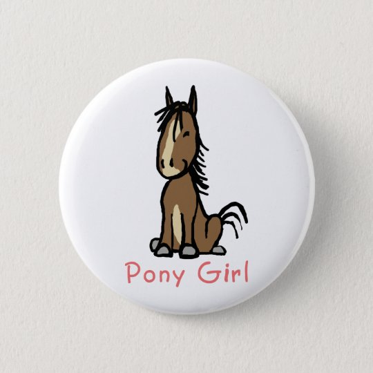 Pony Girl 6 Cm Round Badge