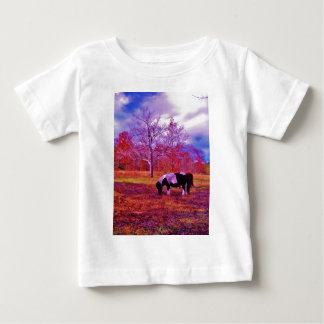 PONY IN A RAINBOW  colored field T Shirt