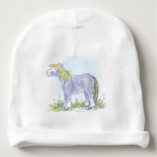 Pony in Iris Blue Baby Beanie