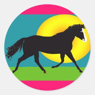 pony in the sun sticker