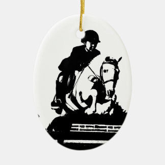 Pony Jumping bw Christmas Ornament