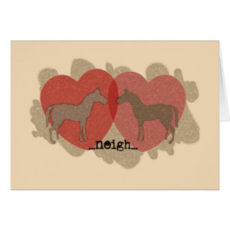 Pony Love Valentine's Day Greeting Card