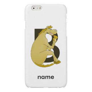 Pony Monogram Letter B iPhone 6 Plus Case